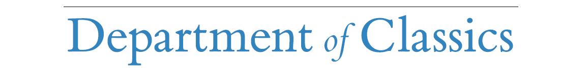 Department of Classics – UCLA